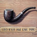 """Peinture de René Magritte : """"Ceci n'est pas une pipe""""."""